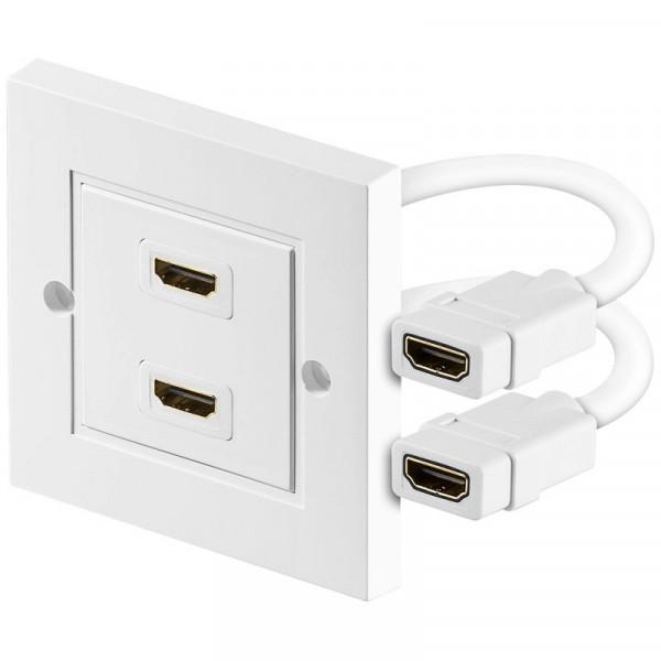 HDMI Wandoutlet tweevoudig