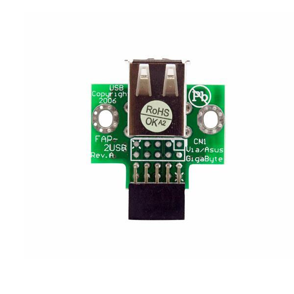 StarTech 2-poorts USB moederbord header adapter