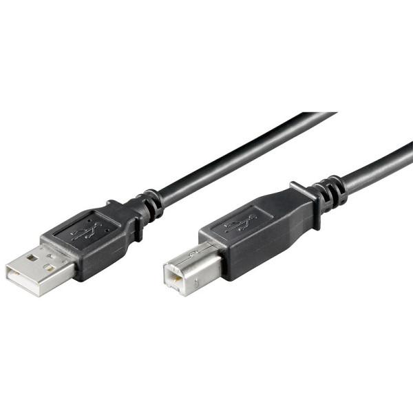 USB 2.0 Aansluitkabel USB A - USB B 0,25m