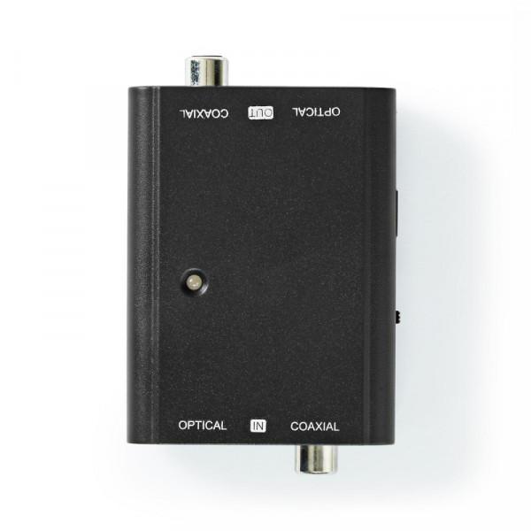 Optische Toslink of Coaxiaal 2-weg Omvormer - Compact - Zwart