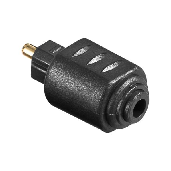 Optische Mini Toslink (v) - Toslink (m) Adapter - Verguld - Zwart