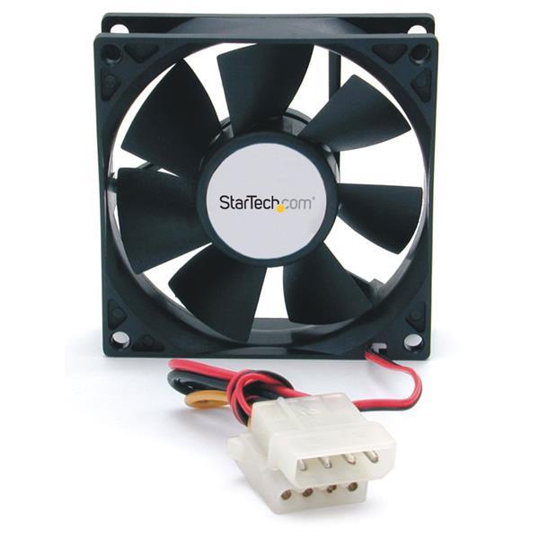 StarTech 80x25mm Ventilator voor Computerbehuizing met Dubbele Kogellagers en LP4 Connector