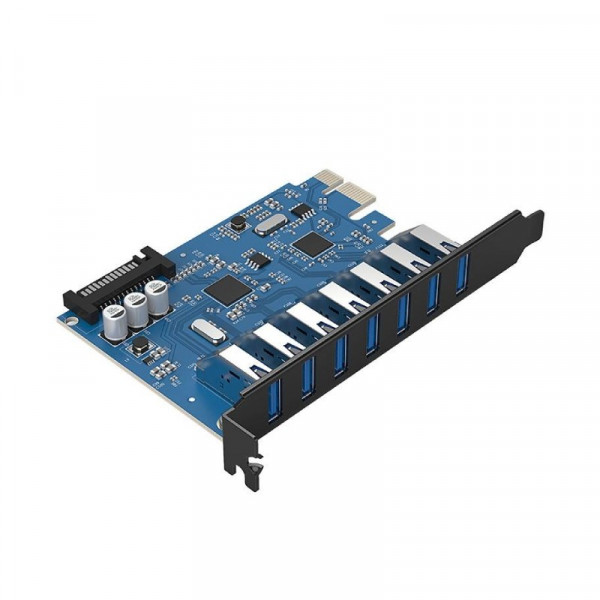 7 Poorts PCI Express Kaart (5Gbps) met 7x USB 3.1 Gen 1