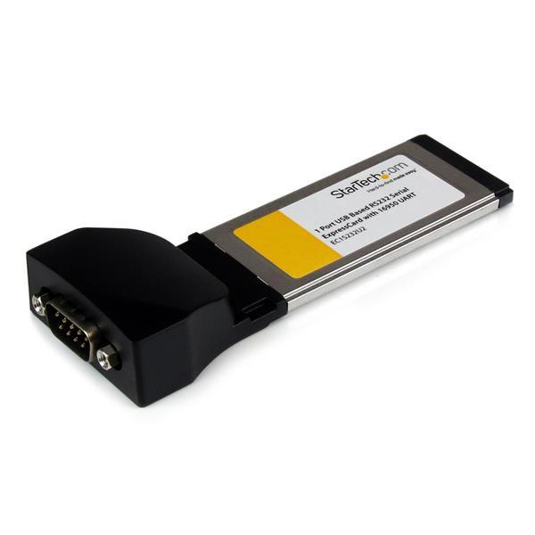 StarTech 1-poort ExpressCard naar RS232 DB9 Seriële Adapter met 16950 UART - USB