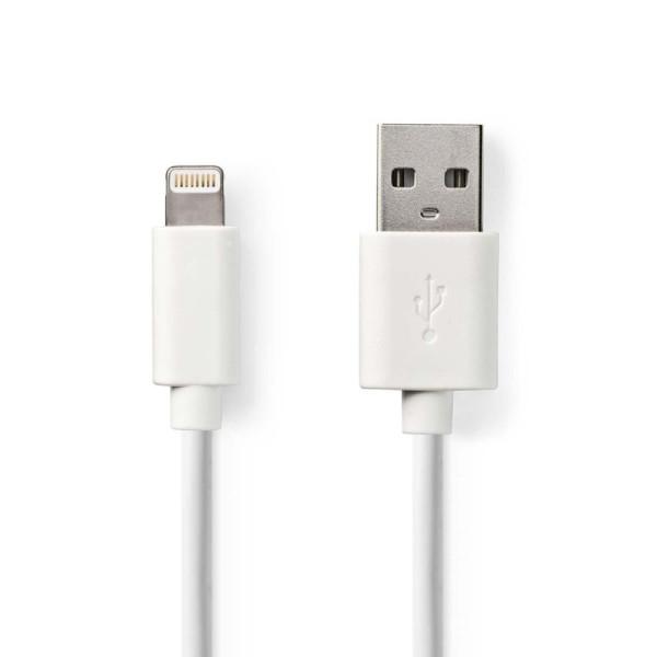 Data en Oplaadkabel Apple Lightning 1m Wit