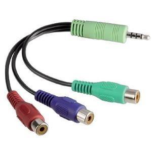 Samsung Jack naar Component adapter kabel 20 centimeter