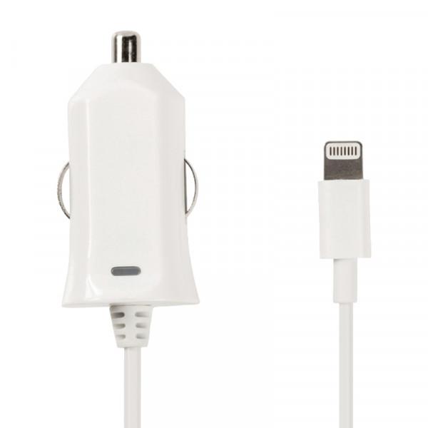 Lightning Autolader voor Apple iPhone en iPad - 10W - 1 meter - Wit