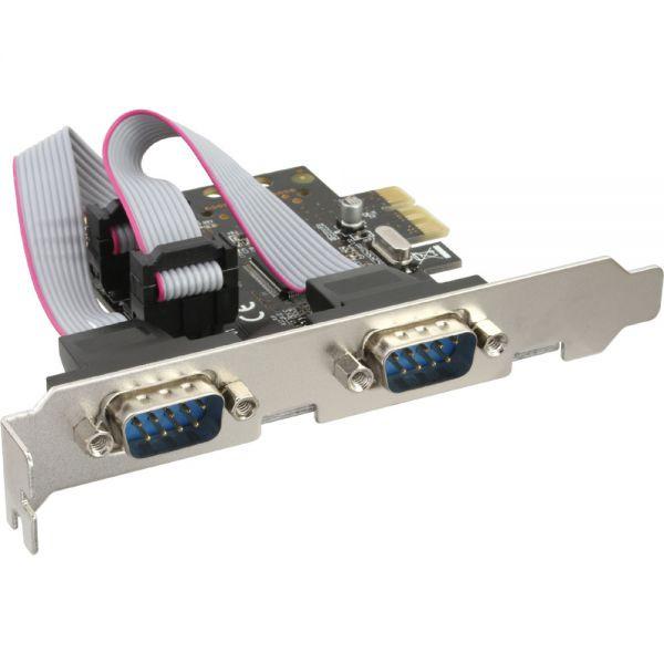 InLine PCIe kaart naar 2x Serieel Dsub 9P