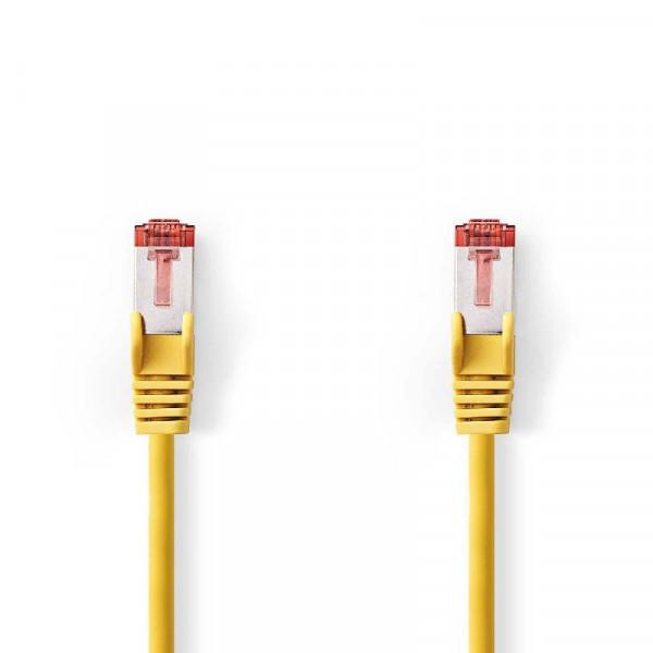 SF/UTP patchkabel netwerkkabel CAT6 geel 2m