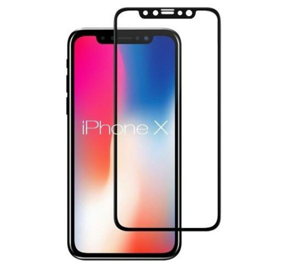 Tempered Glass Screenprotector Iphone X Zwart