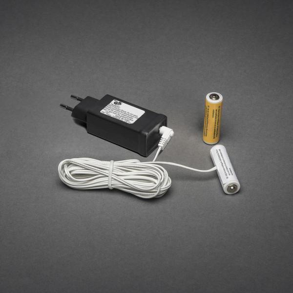 230V - 2x AA Adapter voor batterijartikelen