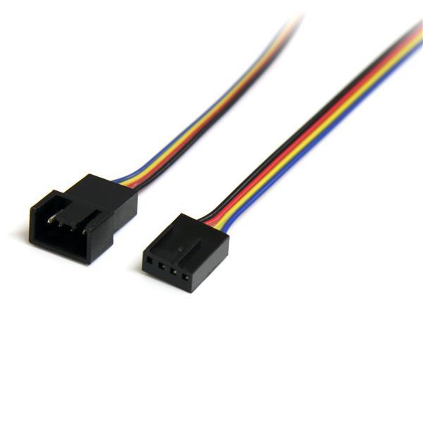 StarTech 30cm 4-pins Verlengkabel voor Ventilatorvoeding - M/F