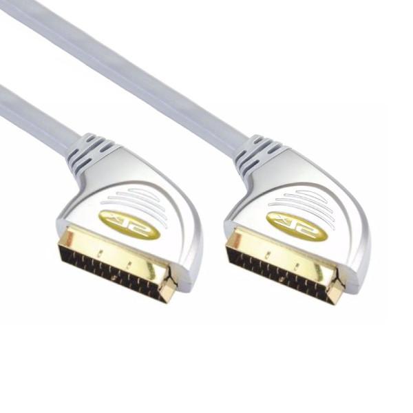 SLX Scart Kabel Verguld 3m