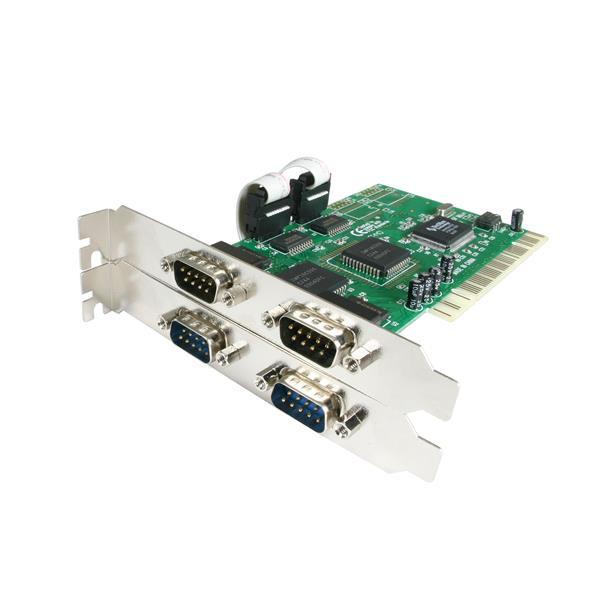 StarTech 4-poort PCI RS232 Seriële Adapterkaart met 16550 UART
