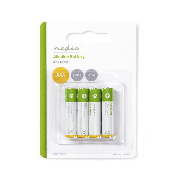 4 stuks Alkaline batterij AAA 1.5 V
