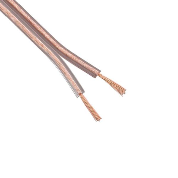 Luidsprekerkabel OFC 2 x 1,5mm2 - Transparant - per meter