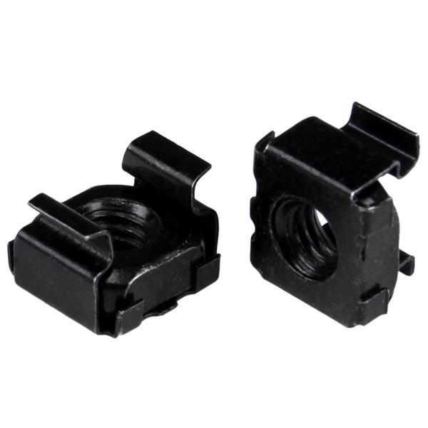 StarTech M6 kooimoeren voor serverkast en rack - 100 stuks pak - zwart