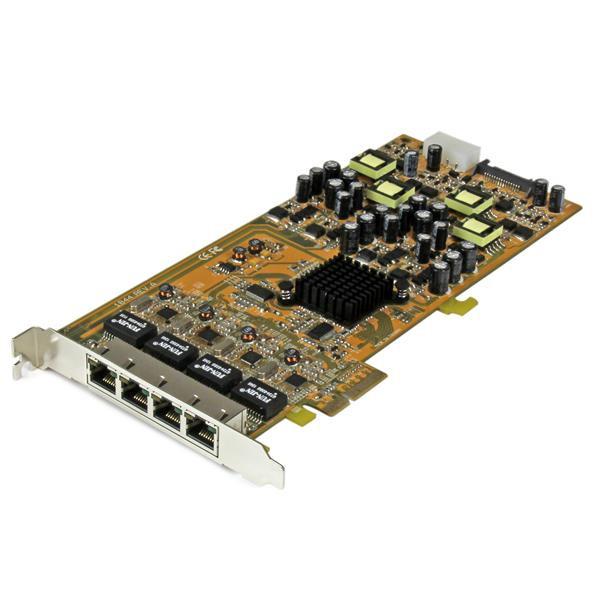 StarTech 4-poorts gigabit Power over Ethernet PCIe-netwerkkaart - PSE / PoE PCI Express NIC