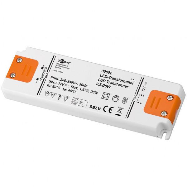 LED Transformator - 12 volt - 20 watt
