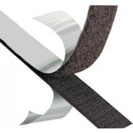 VELCRO® Brand Fasteners Klittenband (zachtekant) zelfklevend 25m op rol Zwart
