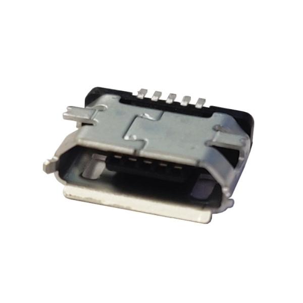 Soldeerbaar Micro USB chassisdeel female