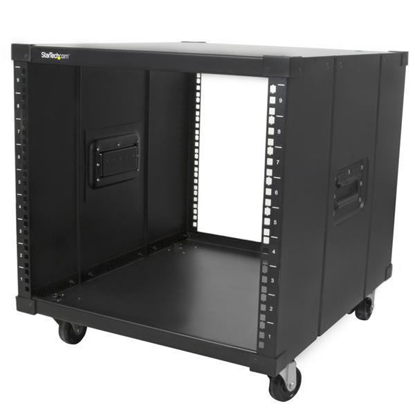 StarTech Draagbare server rack met handvaten - rolbare serverkast - 9U