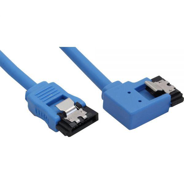 InLine SATA 6Gb/s haaks links 15CM