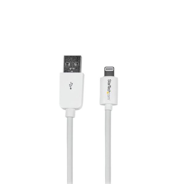 StarTech 15 cm korte witte Apple 8-polige Lightning-connector-naar-USB-kabel voor iPhone / iPod / iP