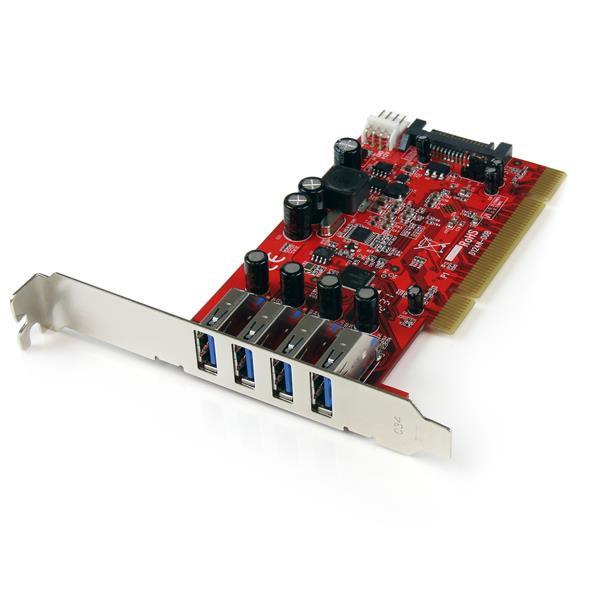StarTech 4-poorts PCI SuperSpeed USB 3.0-adapterkaart met SATA-/SP4-voeding