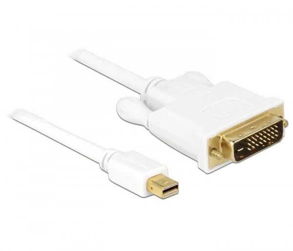 DeLOCK Mini DisplayPort naar DVI-D kabel wit 2 meter