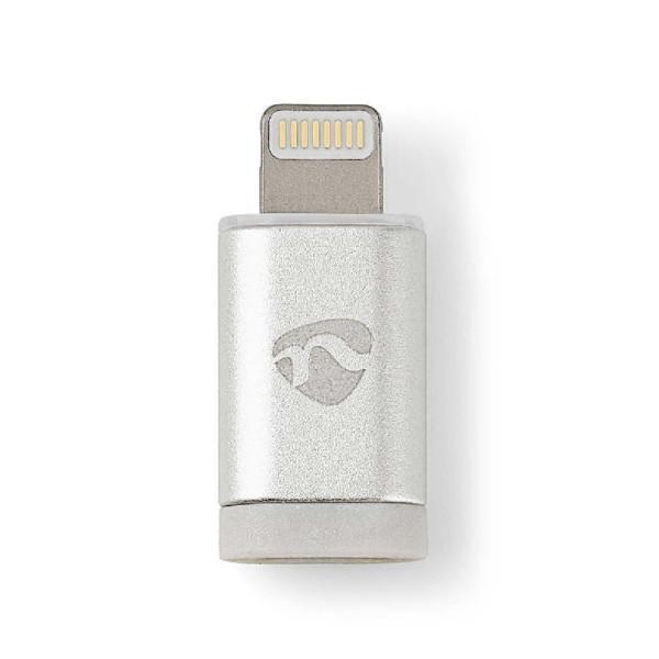 USB Micro B vrouwelijk - Apple Lightning mannelijk adapter Wit