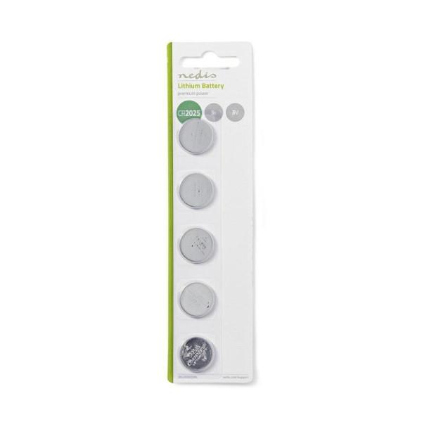 Lithium knoopcel-batterij CR2025 - 3V - 5 stuks