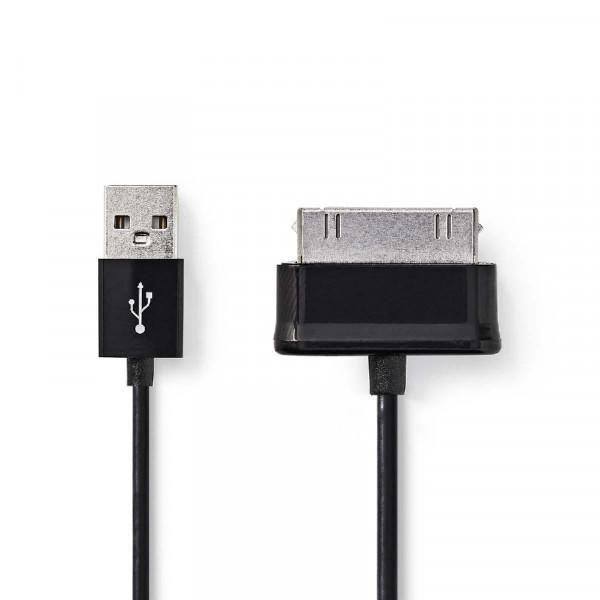 Data/Oplaadkabel Samsung 30-Pins 2m Zwart