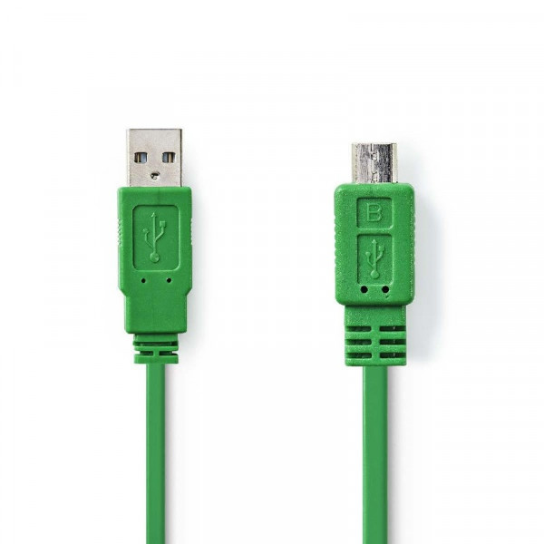 USB 2.0 A - Micro USB B Kabel 1m Groen