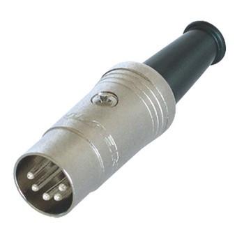 Connector DIN Male Metaal Zilver