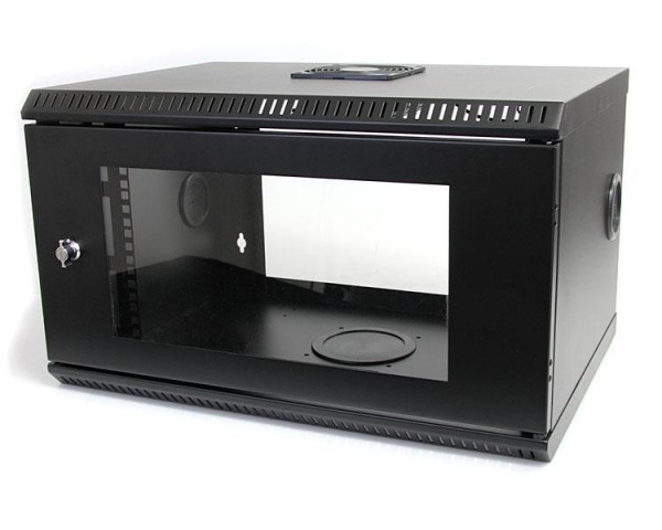 StarTech 6U 19 inch Serverrack Serverkast Wandmontage met Acryl Deur