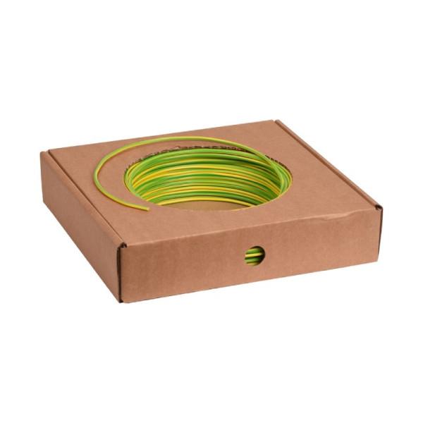 VD installatiedraad H07V-U 2,5mm2 Eca groen/geel 100m