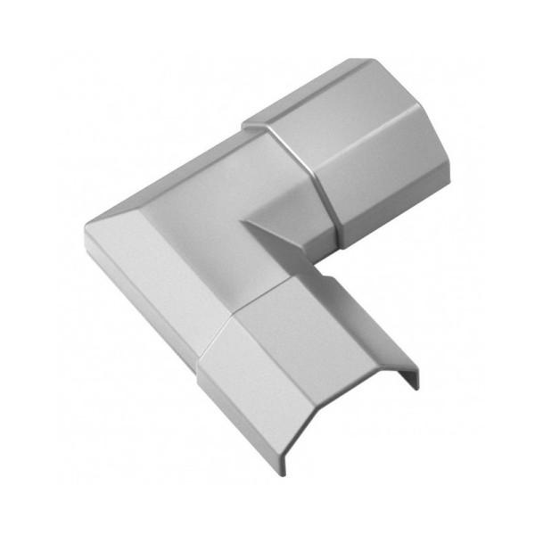 Hoek voor Kabelgoot 33mm 90° Zilver