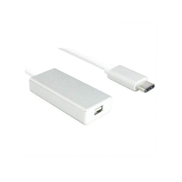 USB C naar mini DisplayPort adapter 0,2 meter wit