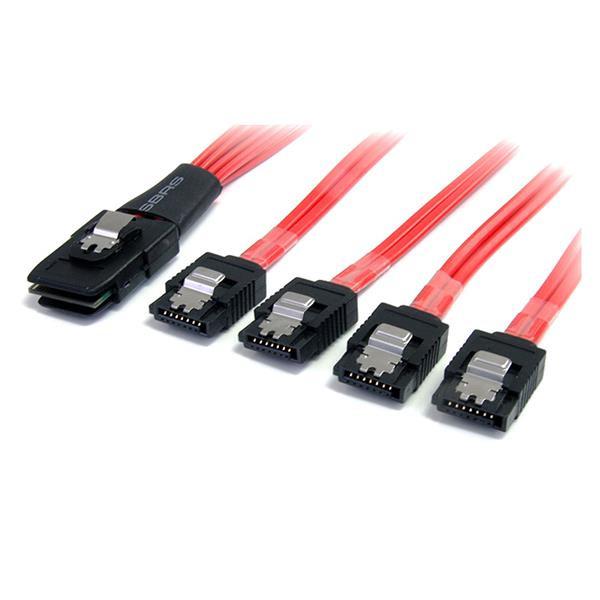 StarTech 50 cm lange, serieel aangesloten SCSI SAS-kabel - SFF-8087 naar 4x vastklikkend SATA
