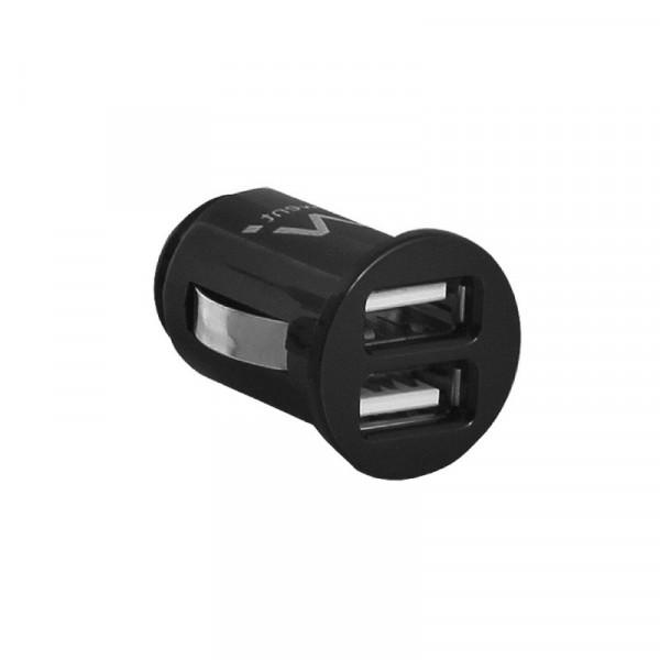Dubbele mini USB Autolader 2,1A