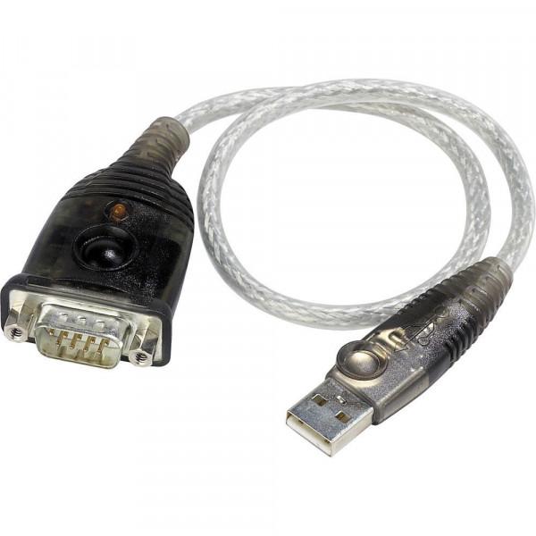 Aten UC-232A USB - RS232 Seriële verloopkabel 0,3m