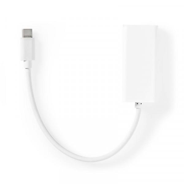 USB-C naar RJ45 Gigabit Ethernet Adapter - 0,15 meter - Wit