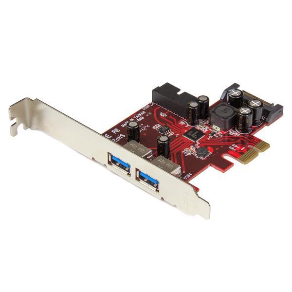 StarTech 4-poorts PCI Express USB 3.0 kaart - 2 extern, 2 intern - SATA-voeding