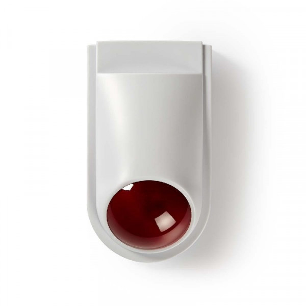 Dummy beveiligings-sirene IP44, Wit-rood