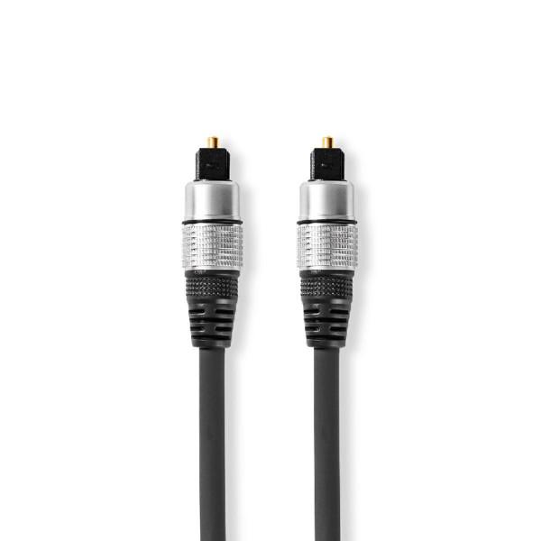 Optische Toslink Kabel - 5,5mm dik - Verguld - 10 meter - Zwart