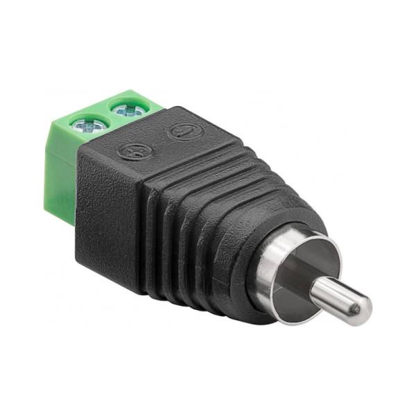 Schroefbare Mono Tulp (m) Connector - Zwart